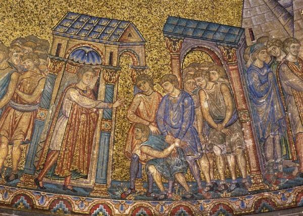 35.Иосиф отдает приказание связать Симеона, младшего брата перед глазами братьев своих. (Быт. 42. 24)