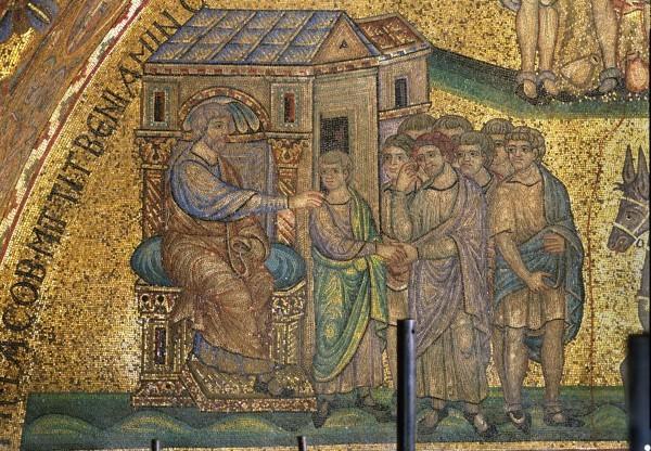 37.Иаков отдает Вениамина братьям своим. (Быт. 43. 1-15).
