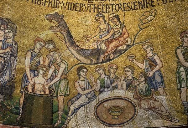 6.Братья сажают Иосифа в ров. Братья вкушают хлеб и встречают караван Измаильтян из Галаада (Быт. 37. 23-25).