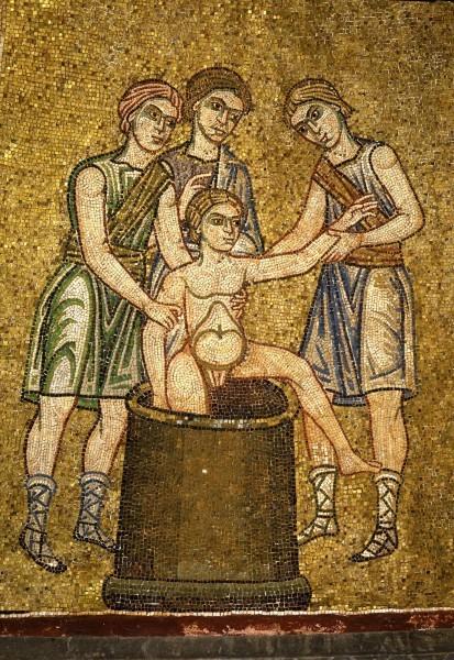 7.Братья вытаскивают Иосифа из рва (Быт. 37. 28).