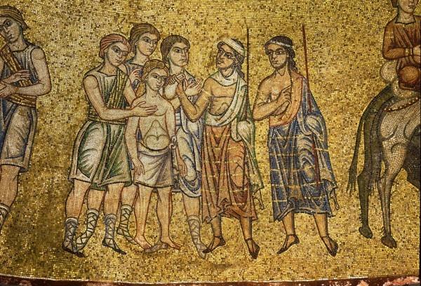 8.Братья вытаскивают Иосифа из рва и продают его Измаильтянам за двадцать серебренников (Быт. 37. 28).