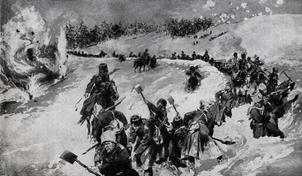 Первая мировая война. Русские войска в Карпатах 1915