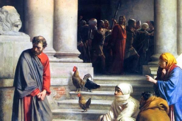 Теперь глаза апостола Петра всегда красные от слез