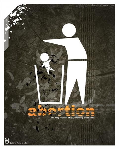 """""""Аборты - самый простой способ нести ответственность с 1973 года"""" Источник: shreeb.deviantart.com"""