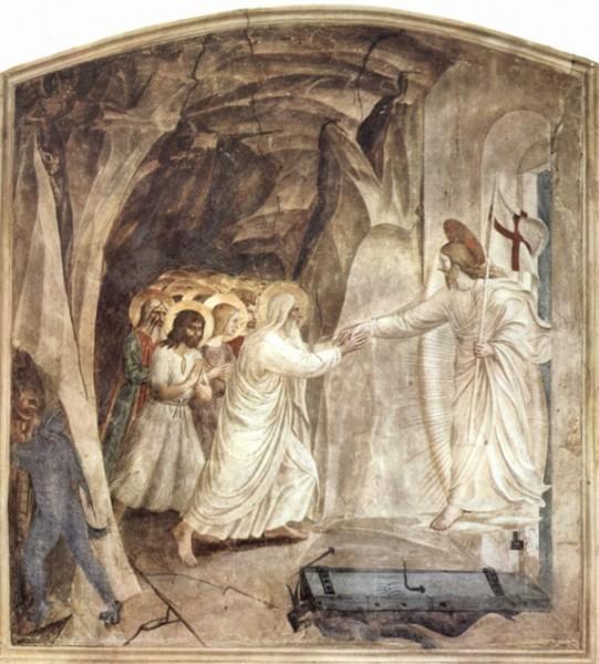 Фра Беато Анджелико. Цикл фресок доминиканского монастыря Сан Марко во Флоренции, сцена Сошествие во ад. Освобождение Адама