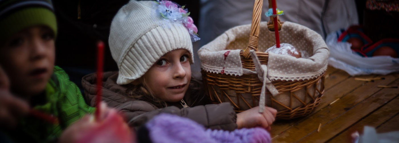Освящение куличей в Коломенском
