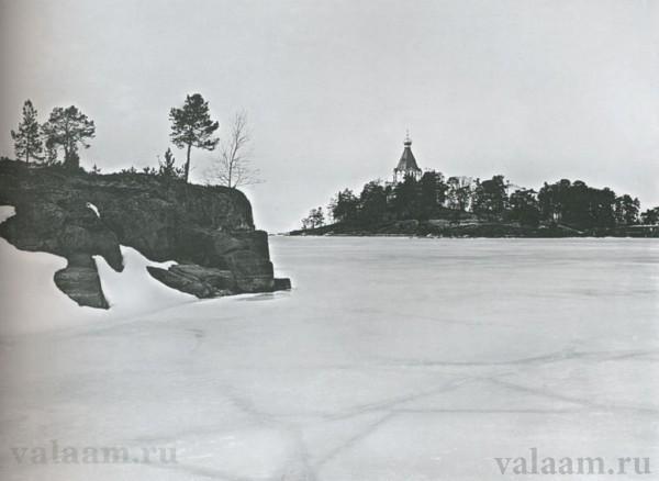 Вид на Никольский скит. Фото: иеромонах Савватий (Севостьянов), Валаамский монастырь.