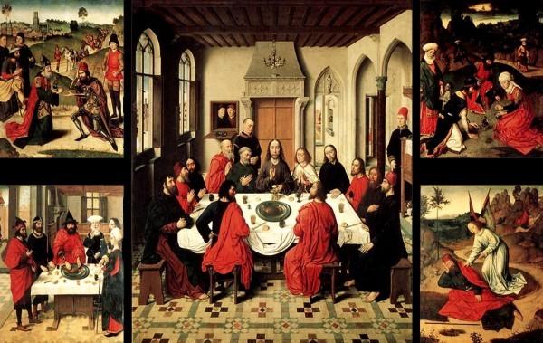 Дирк Баутс Таинство причастия 1464-1467 Алтарь церкви святого Петра в Лувене. Тайная вечеря