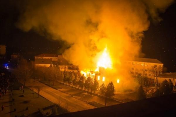 В Волынской епархии горел древний храм