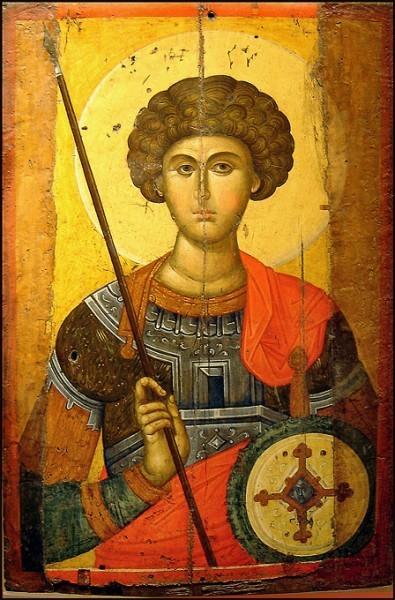 Икона святого Георгия. Перв. половина XIV в. Византийский музей, Афины