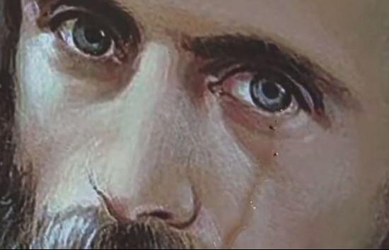Жители румынского села утверждают, что портрет иеромонаха Арсения (Бока) начал источать слезы