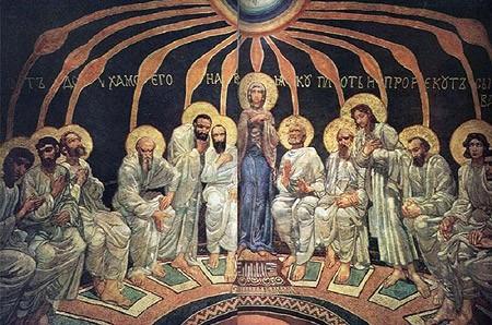 «Сошествие Святого Духа на апостолов». Михаил Врубель, 1885 г.