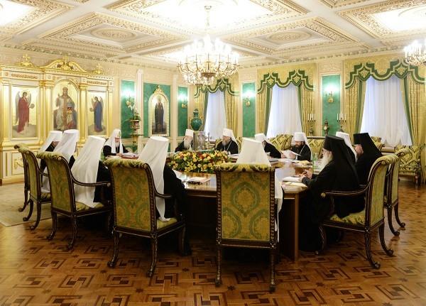 В Москве проходит заседание Священного Синода Русской Православной Церкви