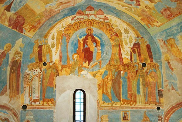 Фрески иконописца Дионисия в соборе Рождества Богородицы в Вологодской области