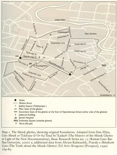 Карта минского гетто