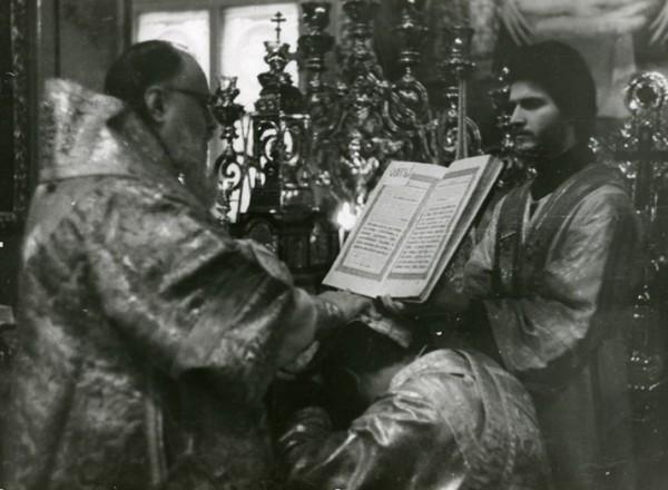 Хиротония иподиакона Сергия Правдолюбова  во диакона в Воскресенье, 10 октября 1976 года.