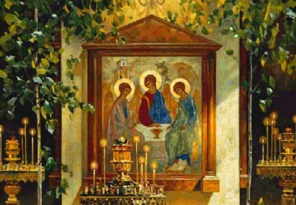 Троица и икона Воскресения Христова