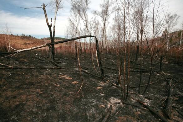 Село сгорает заполчаса
