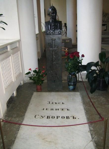 Могила Суворова в Александро-Невской лавре.