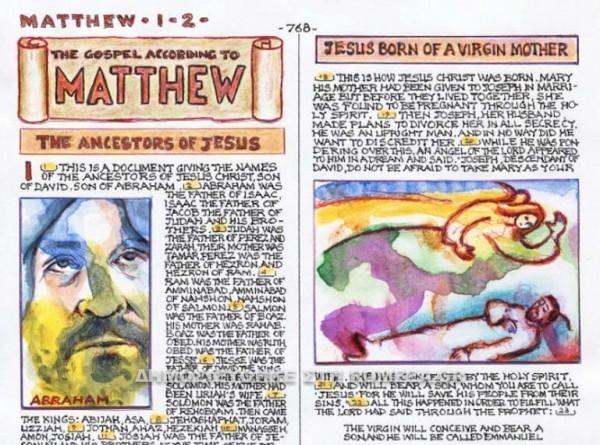 80-летний итальянский художник создал первую современную рукописную иллюстрированную Библию