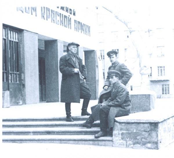 Сотрудники редакции газеты ПриВО «Красноармеец»