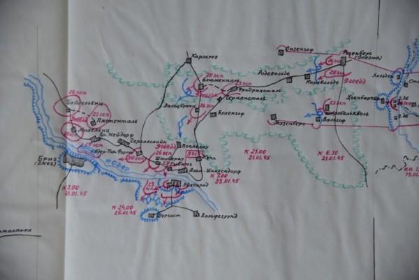 Карта наступления. 19-21 января