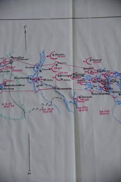 Карта наступления. 18-19 января
