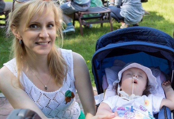 Екатерина Глаголева и дочкой Сашей
