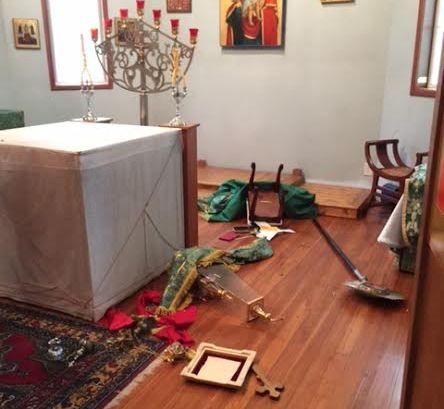 Вандал разгромил алтарь в православном храме на Аляске