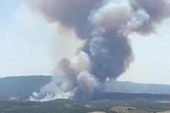 На границе с Афоном – крупный пожар