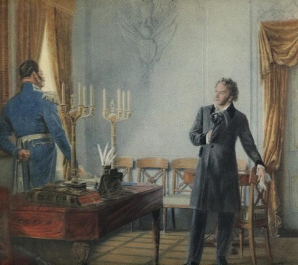 Картинки по запросу Пушкин и царь