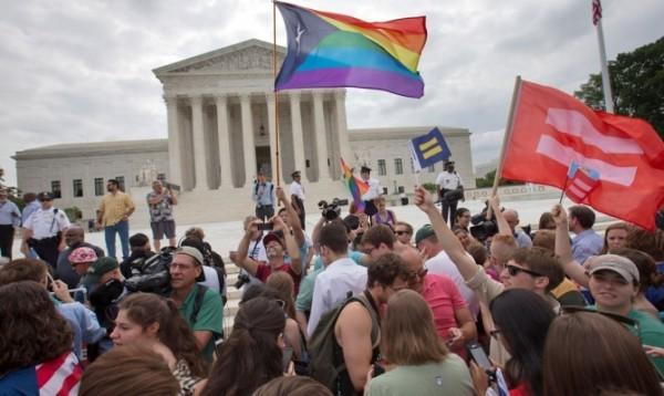 Американцы празднуют решение Верховного суда. Фото АР