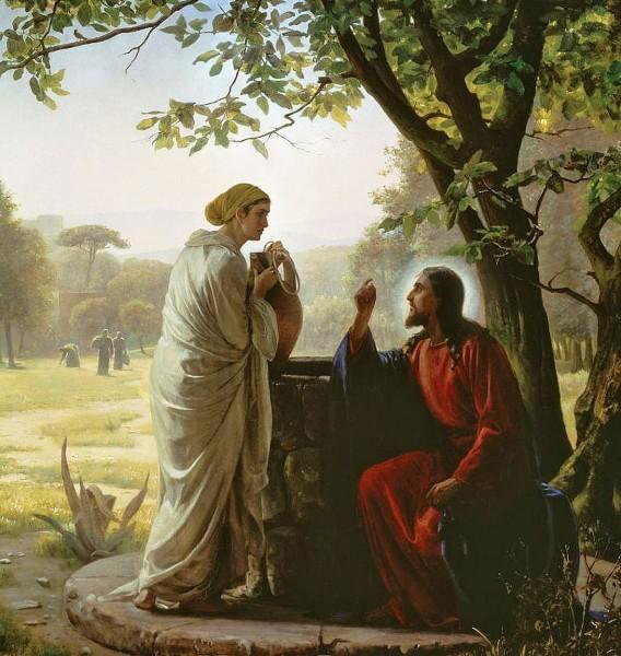 Карл Блох. Христос и самарянка
