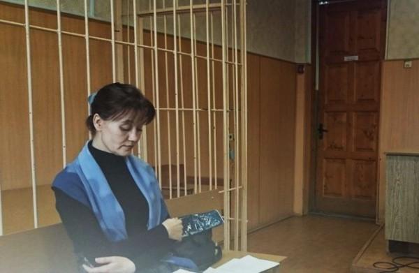 Татьяна Нарубина в зале суда