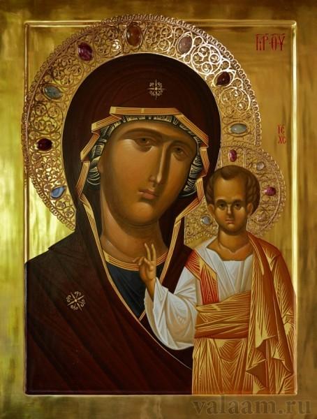В Валаамском монастыре замироточила Казанская икона Божией Матери