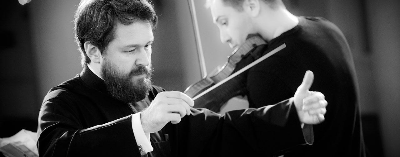 Репетиция концерта «Время высокой музыки»: скрипач Дмитрий Коган & митрополит Иларион (Алфеев)