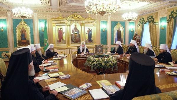 Очередное заседание Священного Синода Русской Православной Церкви открылось в Санкт-Петербурге