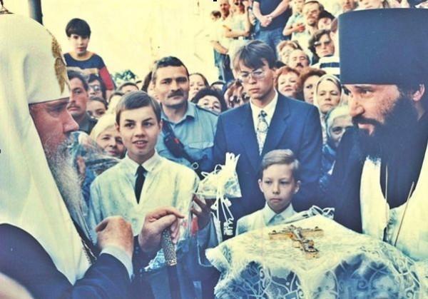 Встреча Святейшего Патриарха Московского и всея Руси Алексия II в Вознесенском соборе г. Твери. 10 июля 1995 года