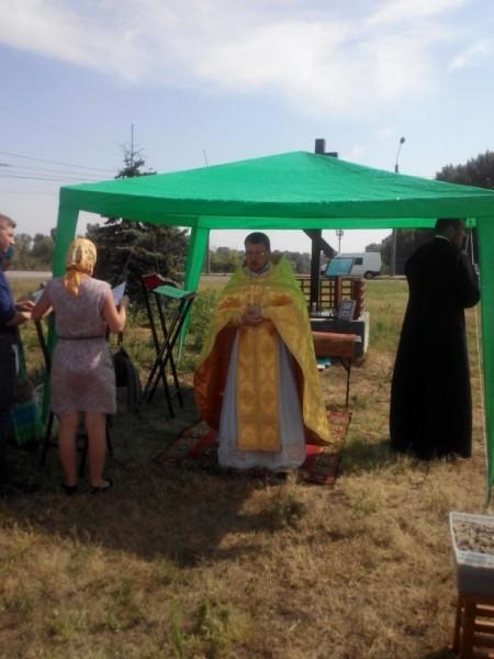 Первая литургия. Фото: сайта Оболонского благочиния