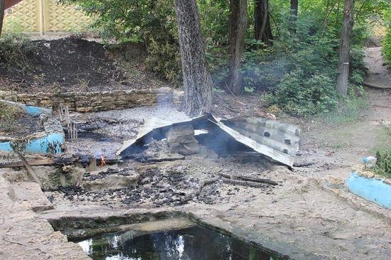 МВД по Липецкой области: Источник в Свято-Успенском монастыре сгорел по неизвестным причинам