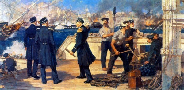 Н.П. Медовиков. П.С. Нахимов во время Синопского сражения 18 ноября 1853 г. 1952 г.