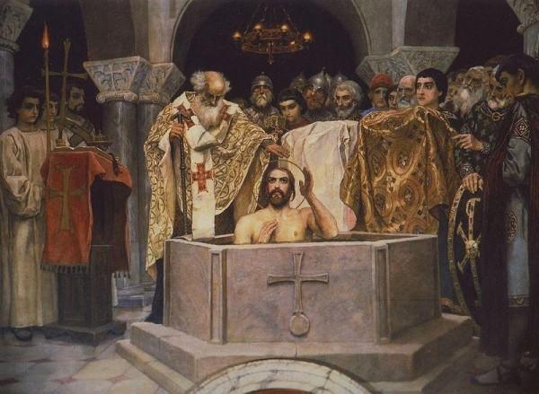 Крещение Владимира. Фреска В.М. Васнецова