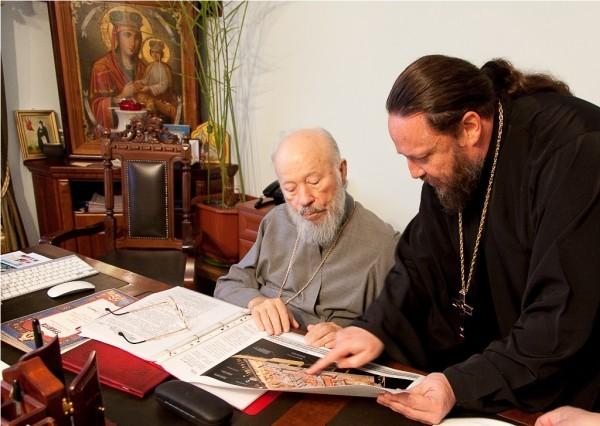Блаженнейший Владимир благословляет проект музеефикации Десятинного храм