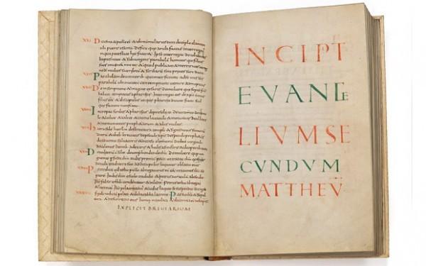 Найдено отлично сохранившееся Евангелие IX века