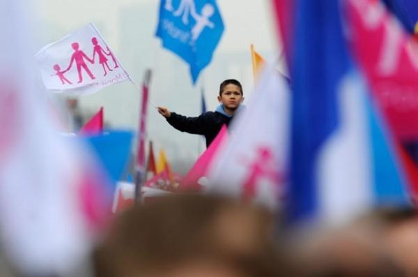 Протест против однополых браков во Франции. Фото ЕРА