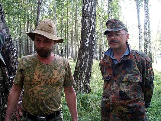 Уральские поисковики С. Плотников и Л. Вохмяков Фото: bergenschild.ru