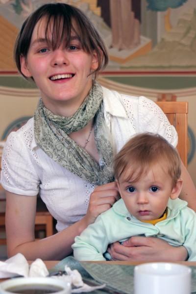 Катя с Захаром в Сергивом Посаде на Библейских чтениях 6 июня 2010 года