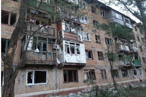 Горловское епархиальное управление пострадало от артобстрела
