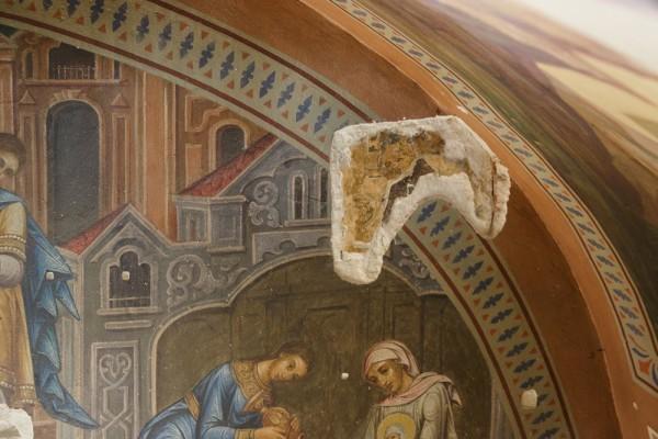 Под фресками 19 ваека обнаружены сохранившиеся фрагменты древних росписей 15 века