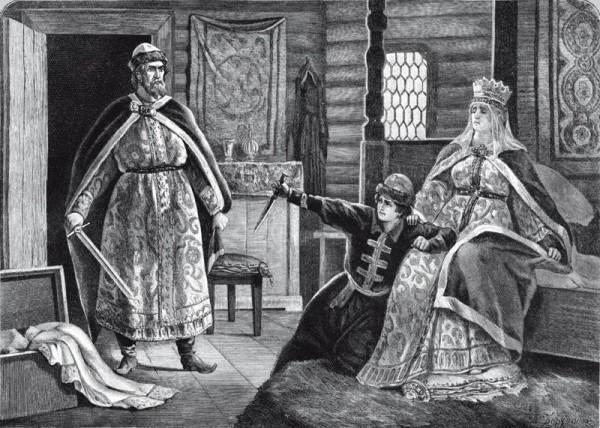 Владимир и Рогнеда с сыном
